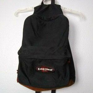 VTG Eastpak Old School Leather Bottom Backpack USA